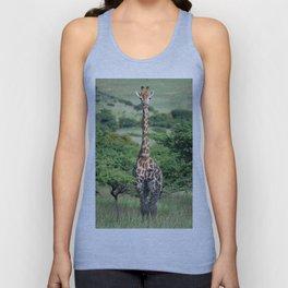 Giraffe Standing tall Unisex Tank Top