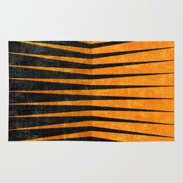 Yellow / Black - Geometric Rug