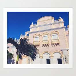 To the Theatre in Cartagena Art Print