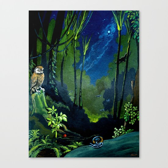 Silent Night in the New Zealand Forest Canvas Print