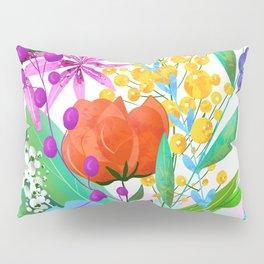 Floral illustration Pillow Sham
