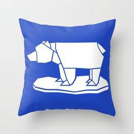 Origami Polar Bear Throw Pillow