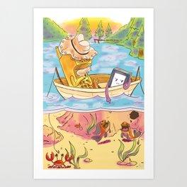 Phone Fishing Art Print