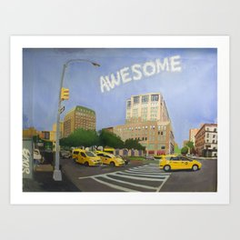 102nd Street and Broadway New York Art Print
