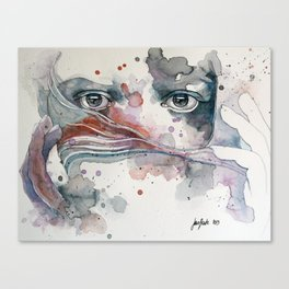 A sealed thought Canvas Print