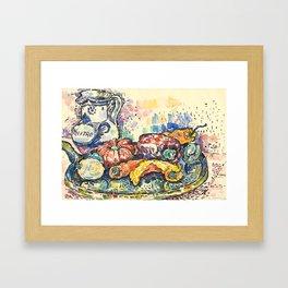 """Paul Signac """"Still Life with Jug"""" Framed Art Print"""
