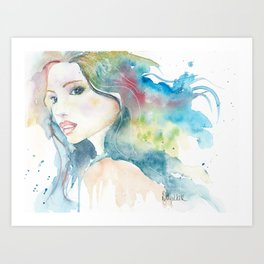 Rainbow Woman Art Print