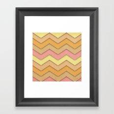 Summer Day Chevron Framed Art Print