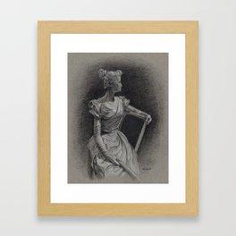 Sitting Lady, Dame Assise, Paul du Bois, Bruxelles Framed Art Print