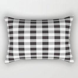 Black Buffalo Plaid Rectangular Pillow