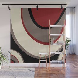 """Abstract Retro Waves"" Wall Mural"