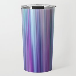 Abstract Purple and Teal Gradient Stripes Pattern Travel Mug