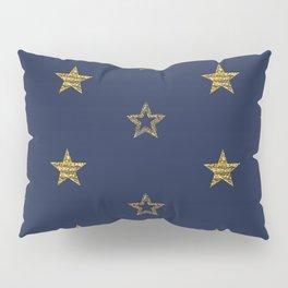 Golden Dust Stars   Pattern Art Pillow Sham