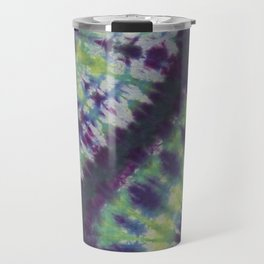 Spiral Tie Dye Purple Green Blue Yellow Travel Mug