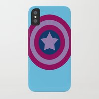 bisexual iPhone & iPod Cases featuring American Pride (bisexual edition) by Nikki Homicide