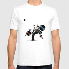 tree  Mens Fitted Tee SMALL White