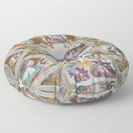 "Michelangelo ""Sistine Chapel ceiling"", Floor Pillow"