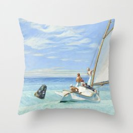 Edward Hopper Ground Swell 1939 Painting Throw Pillow