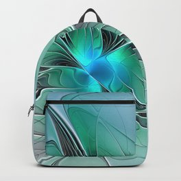 Abstract With Blue 2, Fractal Art Backpack