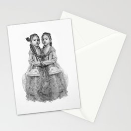 Sisters Twins Stationery Cards