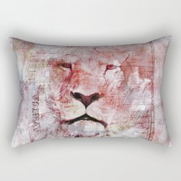 Watercolor Lion Vintage Africa Illustration Rectangular Pillow