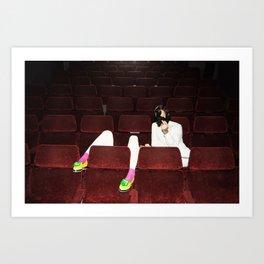 Movie Night Out Art Print