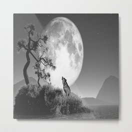 The baying of wolves Metal Print