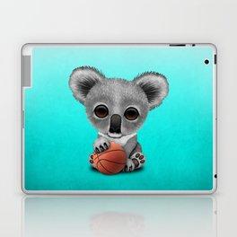 Cute Baby Koala Playing With Basketball Laptop & iPad Skin