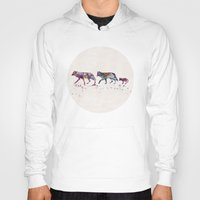 wolves Hoodies featuring Wolves by Watercolorist