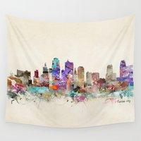 kansas Wall Tapestries featuring kansas city missouri by bri.buckley
