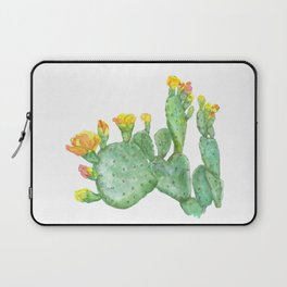 Prickly Pear Cactus Watercolor Laptop Sleeve
