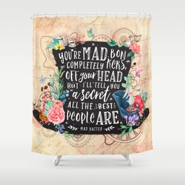 Mad Hatter Shower Curtain