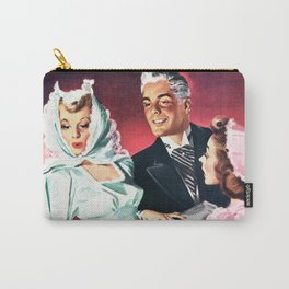 Vintage Illustration Wedding of Bride and Groom Carry-All Pouch