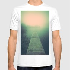 Drowning echoes MEDIUM White Mens Fitted Tee