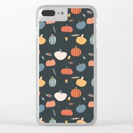 PumpkinPattern Clear iPhone Case