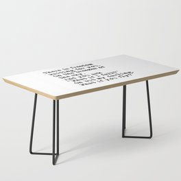 What if you fly? Vintage typewritten Coffee Table