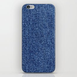 Washed Denim Fabric (Twill Textile) - Blue iPhone Skin