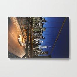 Busy City Metal Print