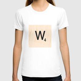 Scrabble Letter W - Scrabble Art and Apparel T-shirt