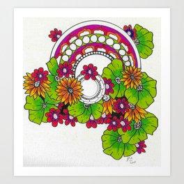 Flower Power Mandala Art Print