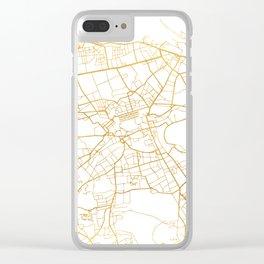 EDINBURGH SCOTLAND CITY STREET MAP ART Clear iPhone Case
