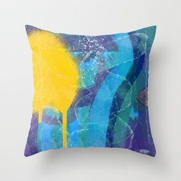 Abstract Sun Aerosol Street Art Painting Throw Pillow