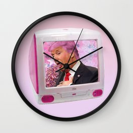 Kawaii Trump Glitter Puke Wall Clock