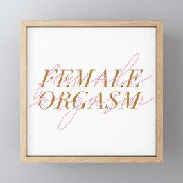 FEMALE ORGASM Framed Mini Art Print