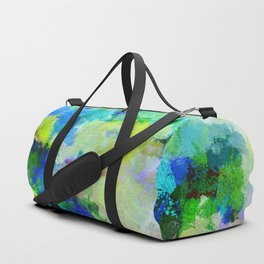 Original Green Abstract Painting on Canvas Duffle Bag