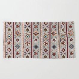 Caucasian Rugs(Stripe) - White Beach Towel