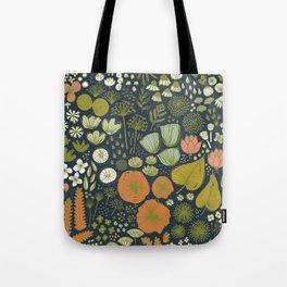 Botanical Sketchbook M+M Navy by Friztin Tote Bag