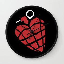 Heart Grenade Wall Clock
