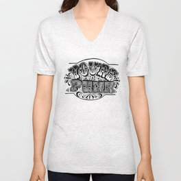 you're a punk black and white hand lettering Unisex V-Neck