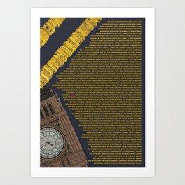 All Of London Art Print
